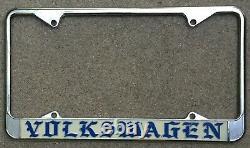 OLD ENGLISH Volkswagen VW California Vintage Bug Bus Dealer License Plate Frame