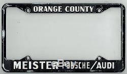 Orange County California Meister Porsche Audi Vintage Dealer License - Audi license plate frame