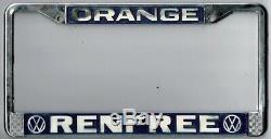 Orange County California Renfree Volkswagen VW vintage license plate frame