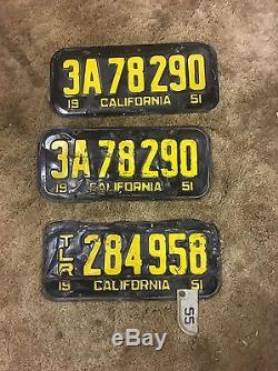 Original 1951 California License Plates