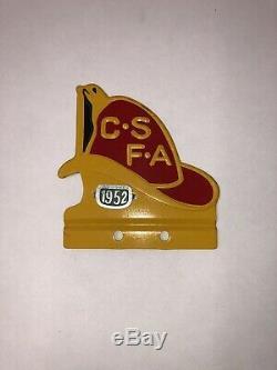Original CSFA CALIFORNIA FIRE FIGHTER LICENSE PLATE TOPPER