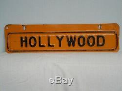 Original Vintage Hollywood California License Plate Topper Nice