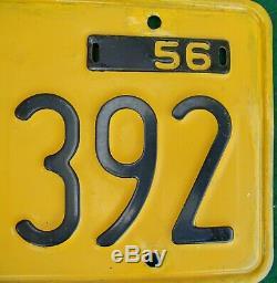 Pair 1956 California License Plates YOM Ca DMV Clear
