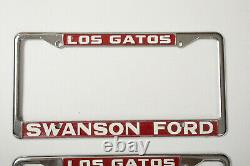 Pair License Plate Frames Los Gatos California Swanson Ford (P2R) Takes Offs