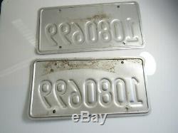 Pair Obsolete CALIFORNIA CA EXEMPT License Plates