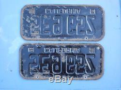 Pair Of 1955 California License Plates