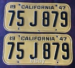 Pair of 1947 California license plates
