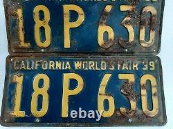 Pair of California world's fair 1939 license plates