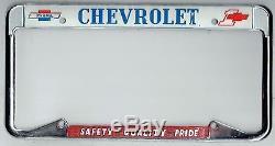 Parma Ohio Chevrolet #1 GM Factory Vintage NOS California License Plate Frame