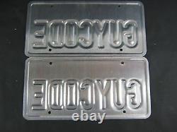 Personalized Vanity California License Plates Guycode Guy Code Statement