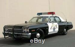 Police CHP California Highway Patrol DIAMOND Exempt Plates PAIR 1963-1969 NEW