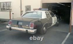 Police CHP California Highway Patrol DIAMOND Exempt Plates PAIR 1969-1982 NEW