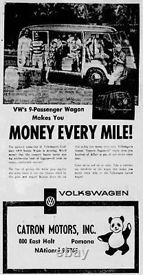 Pomona California Catron Volkswagen Porsche Vintage Dealer License Plate Frame