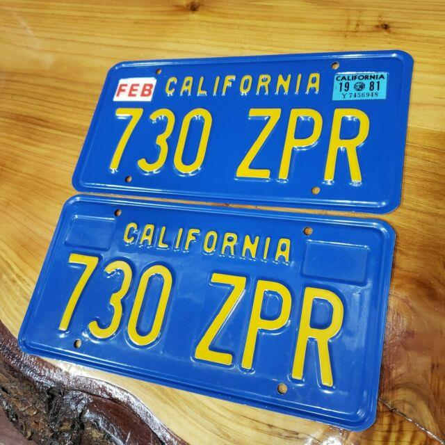 Rarepair1970s & 1980s Dmv Clear (california) License Platevintage