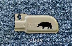 RARE 1944 California License Plate, Metal BEAR Tab, EXCELLENT Condition