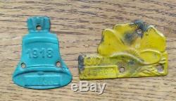 RARE Antique 1917-1918 California License Plate Tags