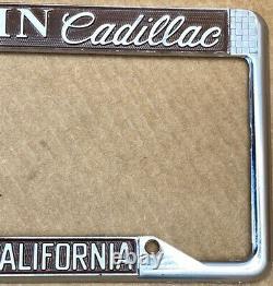 RARE CADILLAC (SOUTHERN CALIFORNIA) MARTIN CAD 1980s LICENSE PLATE FRAME