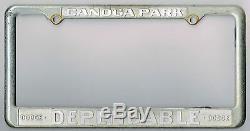 RARE Canoga Park California Dependable Dodge Vintage Dealer License Plate Frame