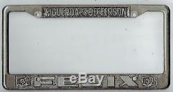RARE Felix Chevrolet Los Angeles California Vintage Dealer License Plate Frame