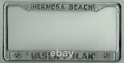 RARE Hermosa Beach California Vasek Polak BMW Vintage Dealer License Plate Frame