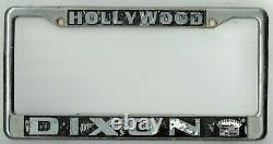 RARE Hollywood California Dixon Cadillac Vintage GM Dealer License Plate Frame