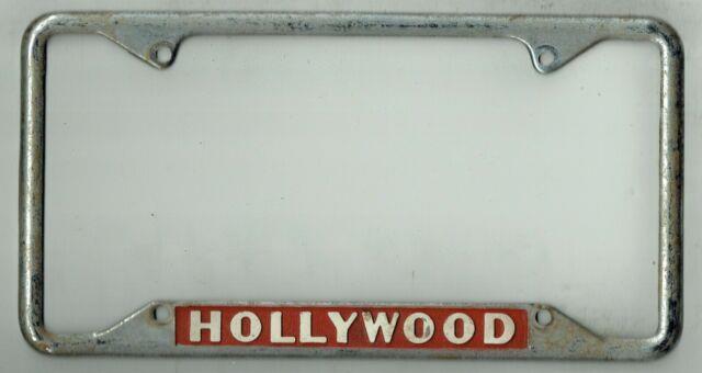 Rare Hollywood California Hometown Pride Vintage Dealer License Plate Frame