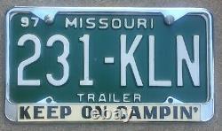 RARE Keep On Campin Vintage VW Bus California Dealer Camping License Plate Frame