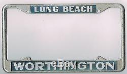 RARE Long Beach California Worthington Ford Vintage Dealer License Plate Frame