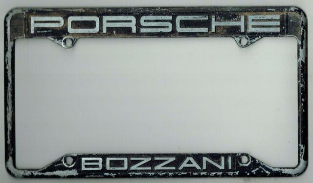 Rare Monrovia California Bob Bozzani Porsche Vintage Dealer License Plate Frame