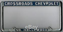 RARE North Hollywood California Crossroads Chevrolet Vintage License Plate Frame