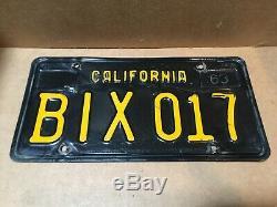 RARE PAIR 1963 DMV CLEAR-(CALIFORNIA)-BIX 017 LICENSE PLATE-1968 & 1971 tag