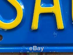 RARE Pair Vtg Authentic Blue California SAUDI Arabia Vanity License Plates Audi