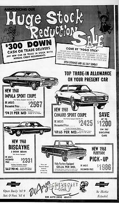 RARE Riverside California DeAnza Chevrolet Vintage Dealer License Plate Frame