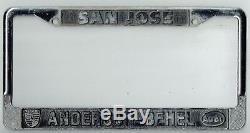 RARE San Jose California Anderson-Behel Porsche Audi Vintage License Plate Frame