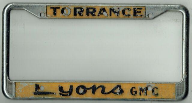 Rare Torrance California Lyons Gmc Buick Vintage Gm Dealer License Plate Frame