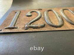 RARE Vintage 1911-1913 California License Plate Brass Era Pre-1914 Porcelain