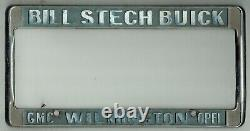 RARE Wilmington California Bill Stech Buick GMC Opel Vintage License Plate Frame