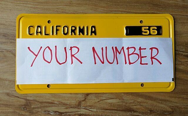 Reproduction. 1956 California License Plates (pair), Read Desc
