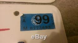 Rapper 8 Ball personal California license plates