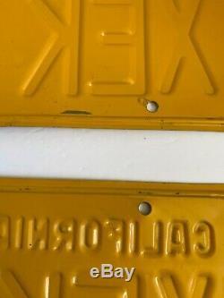 Rare 1956-1962 Series California License Plates one pair two same plates XEK 415