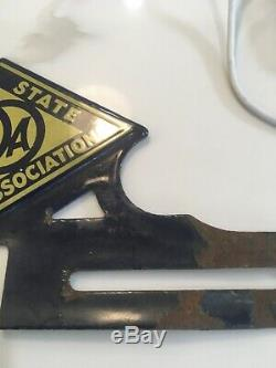 Rare Aaa California State Automobile Association Porcelain License Plate Topper