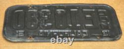 Rare Commercial Pair 1951 DMV Clear Com. E10380 (california)license Plate-vintage