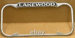 Rare Lakewood Calif. 1940-1955 Hometown Pride Large License Plate