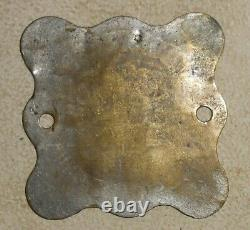 Rare Motor Vehicle Registration Tag Badge Plate State of California Dated 1914