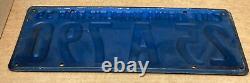 Rare Nice Pair 1939 DMV Clear 25 A 790 (california) License Plate- Vintage