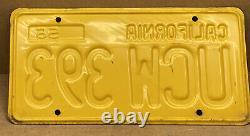 Rare Nice Pair 1956 DMV Clear Ucw 393 (california) Car License Plate-vintage