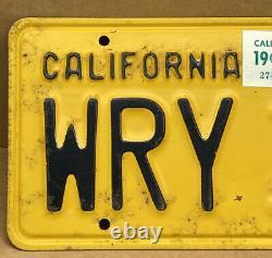 Rare Nice Pair 1956 DMV Clear Wry 153 (california) Car License Plate-vintage