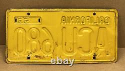 Rare Pair 1956 DMV Clear Acu 680 (california)car License Plate-vintage