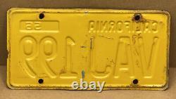 Rare Pair 1956 DMV Clear Vaj 199 (california)car License Plate-vintage