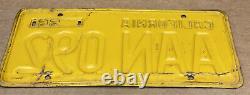 Rare Pair 1956 Yom DMV Clear Aan 092 (california) Car License Plate- Vintage